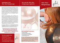 Flyer Seite 1 Peter Hess-Klangmassage