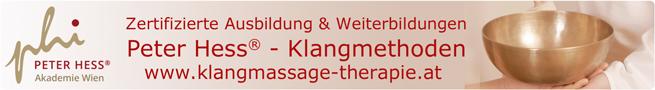 Zertifizierte Aus- und Weiterbildung in Peter Hess - Klangmethoden