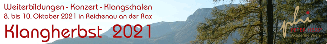 Weiterbildungen - Konzert - Klangschalen am KLANGHERBST in Reichenau im Oktober 2021